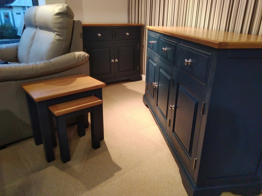 Navy Blue and Oak Dining Range