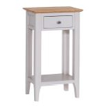 Newton Telephone Table available in Dove Grey or Natural Oak Finish