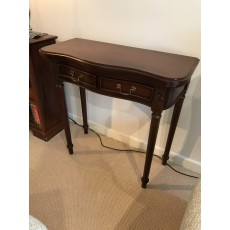 Mahogany Occasional Console Table with Two Drawers