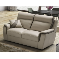Rimini 2 Seater Sofa in Leather available with recliner actions