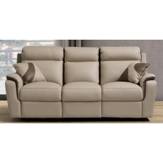 Rimini 3 Seater Sofa in Leather available with recliner actions