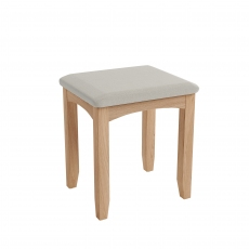 Galmpton Dressing Table Stool in Light Oak Finish