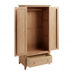 Galmpton Gents Wardrobe in Light Oak Finish