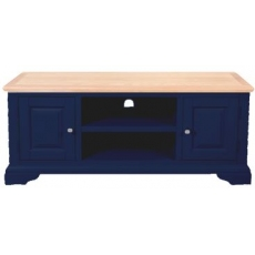 Navy Blue and Oak TV Unit