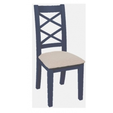 Navy Blue and Oak Dining Table and 4 Chairs