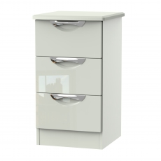 Derwent 3 Drawer Bedside Chest