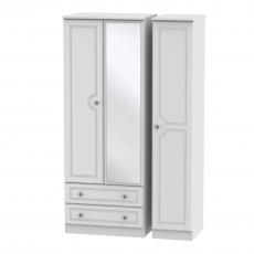 Grasmere Tall 2 Drawer Mirrored Triple Robe