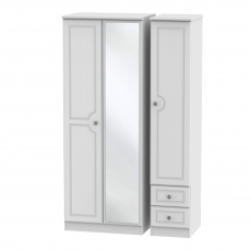 Grasmere Tall 2 Drawer Mirrored Robe