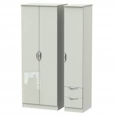 Derwent Tall 2 Drawer Triple Robe