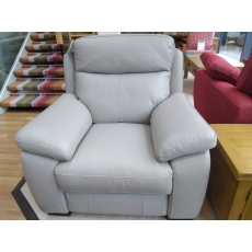 Hampton Leather Power Recliner Armchair