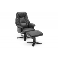 Copenhagen Manual Recliner Chair in Fabric and Leather