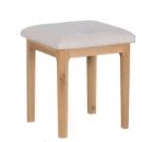 Newton Natural Oak Finish Dressing Stool