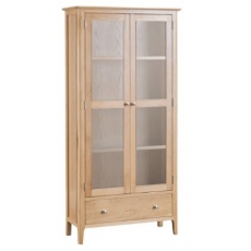 Newton Oak Finish Display Cabinet