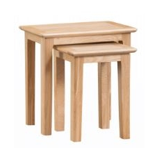 Newton Oak Finish Nest of 2 Tables