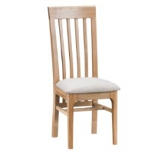 Newton Oak Finish Slat Back Dining Chair (Pair of Chairs)