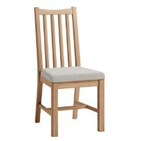 Galmpton Dining Chair with Fabric Seat (Pair of Chairs)