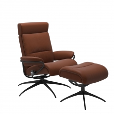 Stressless Tokyo Chair and Footstool with Adjustable Headrest