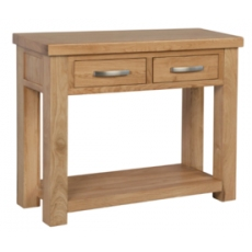 Contemporary Oak Console Table
