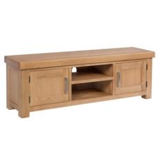 Contemporary Oak Large TV Cabinet