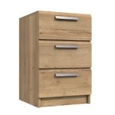 Waterfall 3 Drawer Bedside Cabinet