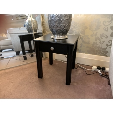 Chippendale Black Lamp Table