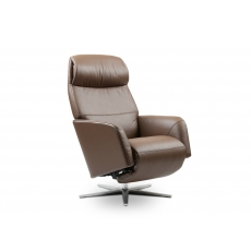 Stressless Scott Power Recliner Chair with Sirius Aluminum Cross Base