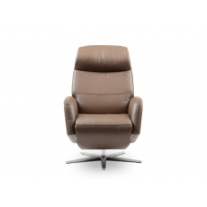 Stressless Scott Power Recliner Chair with Sirius Aluminum Cross Base and Heated Seat