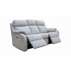 G Plan Kingsbury 3 Seater Power Recliner Sofa with Adjustable Headrest and Lumbar Support with USB