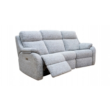 G Plan Kingsbury 3 Seater Curved Power Recliner Sofa with Adjustable Headrest and Lumbar Support