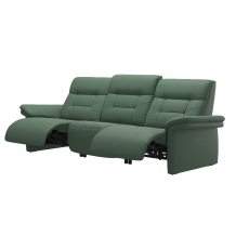 Stressless Mary 3 Seater Power Recliner Sofa with Upholstered Arms
