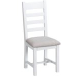 Topsham Ladder Back Chair with Fabric Seat