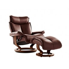 Stressless Magic Classic Base Small Recliner Chair With Footstool