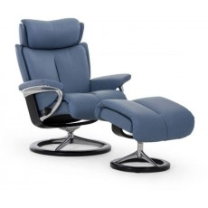 Stressless Magic Signature Base Medium Recliner Chair With Footstool