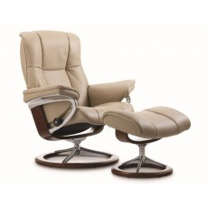 Stressless Mayfair Signature Base Medium Recliner Chair With Footstool