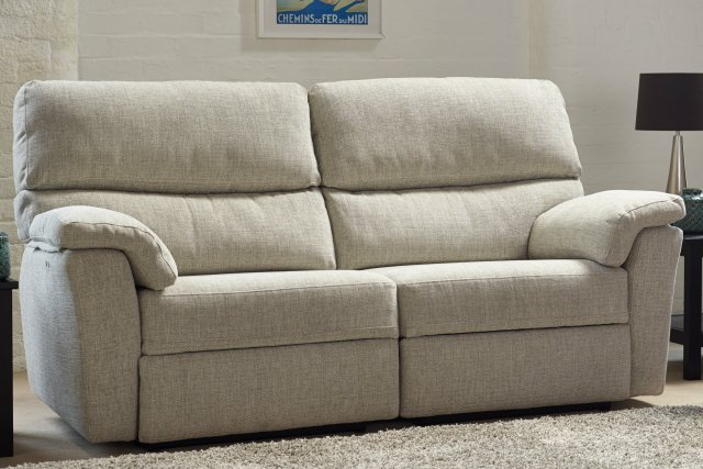 Naples 3 Seater Manual Recliner Sofa