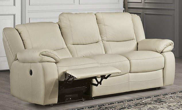 Bari 3 Seater Manual Recliner Sofa with LHF or RHF Action