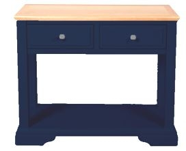 Navy Blue and Oak Console Table