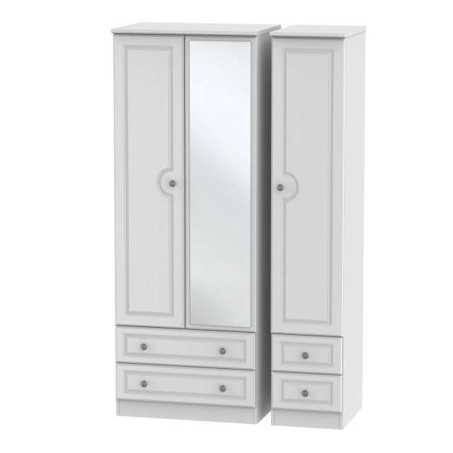 Grasmere Tall 4 Drawer Mirrored Triple Robe