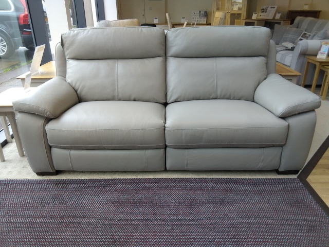 Hampton Leather Power Recliner 2.5 Seat Sofa
