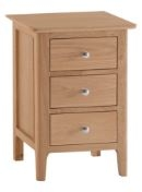 Newton Natural Oak Finish Large Bedside Chest