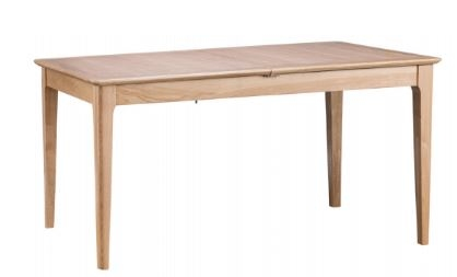 Newton Oak Finish 1.6m Butterfly Extending Dining Table