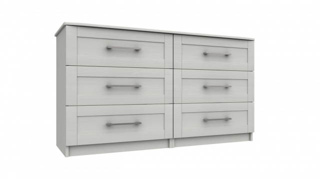 Nashville 3 Drawer Double Chest
