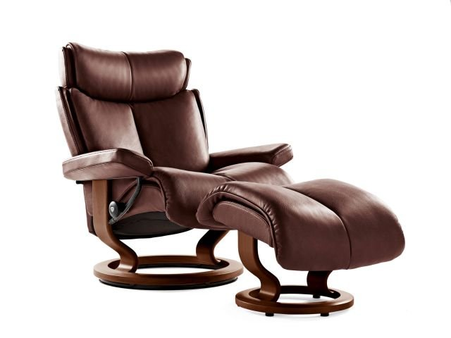Stressless Magic Classic Base Medium Recliner Chair With Footstool
