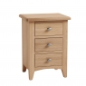 Galmpton 3 Drawer Bedside Chest in Light Oak Finish