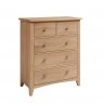 Galmpton 2 over 3 Chest in Light Oak Finish