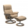 Stressless Mayfair Medium Chair and Footstool with Signature Base